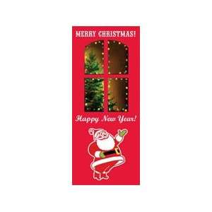 Door Decoration   Christmas Door Banner   Red Santa: Home
