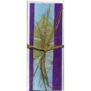 Handmade Greeting Card; Real Leaf Imprint on Handmade Paper Note Cards