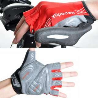 New Red Professional Sports Cycling Bike Bicycle Half Finger Glove