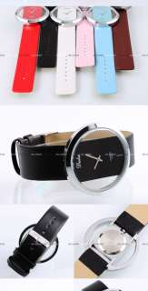 Wholesale 6PCS Quartz PU Leather Girl Lady Wrist Watch