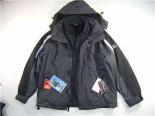 Big Tall Mens LT L Zero Water Snow Windbreak 3 in 1 Zip Jacket Coat