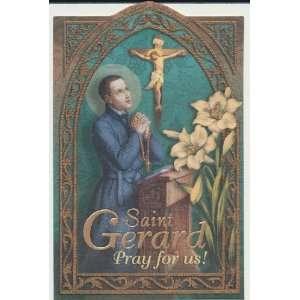 Saint Gerard Holy Prayer Card Patron of Motherhood