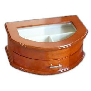 Extraordinary Lift Lid Jewelry Box With Full Mirror And Brushed Nickel