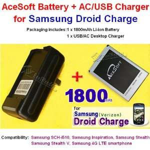 1800mAh AceSoft High Quality Replacement Samsung Droid Charge Battery