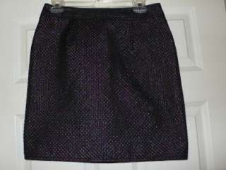 Marc Jacobs Beetle Black Quilted Lame Skirt $258 NWT 8