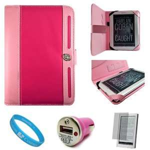 Magenta with Baby Pink Protective Leather Jacket Case