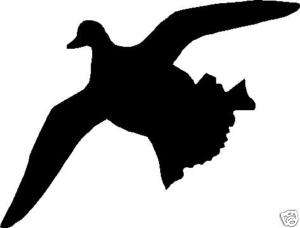 Silhouette Duck Flying hunting Decal 6.5 x 5 Sticker