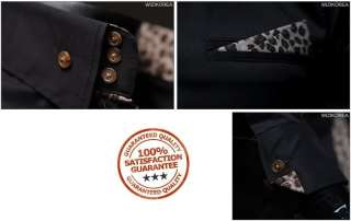 BOKNAM Mens Leopard Print Slim Fit Long Sleeve Button down Dress Shirt