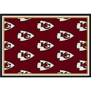 Team Repeat Rug   Kansas City Chiefs (Red Bkgrd): Sports & Outdoors