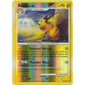 Pokemon Reverse Holo Rare Raichu 27/99: Toys & Games