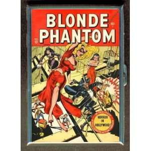 BLONDE PHANTOM PIN UP COMIC 1940s CIGARETTE CASE WALLET
