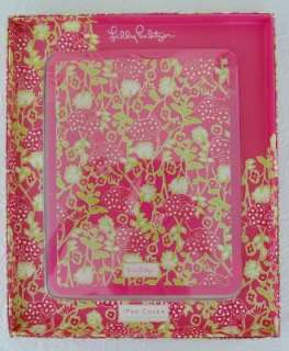 LILLY PULITZER IPAD Sleek Silicone Cover PINK BLOOMERS