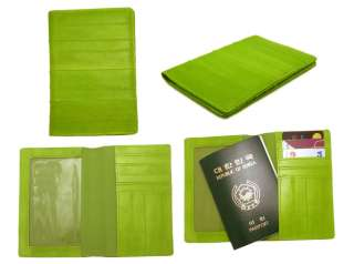 Genuine Eel skin Leather PASSPORT holder Wallet Travel accessories