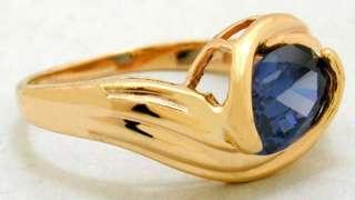 NATURAL 1.60 carats AAA TANZANITE RING 14K GOLD
