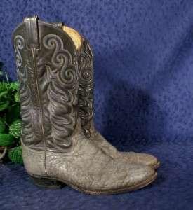 Vintage TONY LAMA 8501 Gray Elephant Skin Boots 10.5B