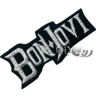 BON JOVI Embroidered Iron Patch Badge Punk Rock Metal