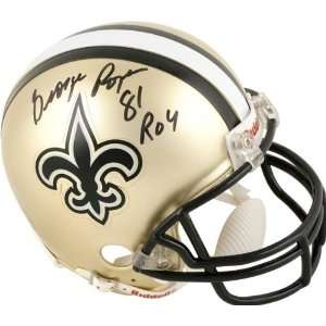 George Rogers New Orleans Saints Autographed Mini Helmet
