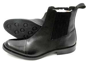 New DONALD PLINER Italy Enos Black Patent Leather Tuxedo Boots 8 NIB