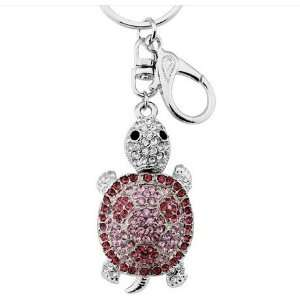 Decoration, Purse Charm, Silver Rose Pink Color