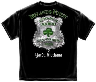IRELANDS FINEST POLICE OFFICER LAW ENFORCEMENT GARDA SIOCHANA T SHIRT
