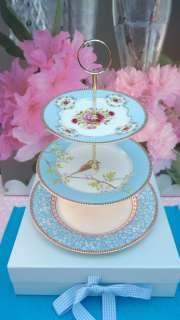 PIP STUDIO PLATES NEW BLUE BIRD 3 TIER CAKE STAND WOW!