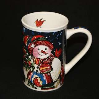 & Red Bird Tall Coffee Latte Mug Cup Excellent Condition