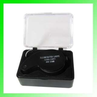 40x 25mm Jewelers Loupe MAGNIFIER EYE GLASS Black NEW