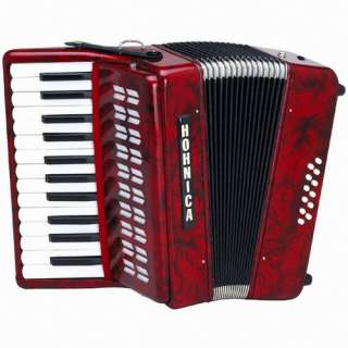 NEW Hohner 1302 Hohnica Piano Accordion w/ Case, Strap