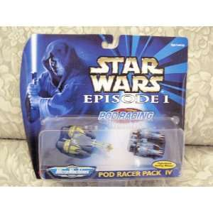 Star Wars Episode I MicroMachines Pod Racer Pack 4 Toys & Games