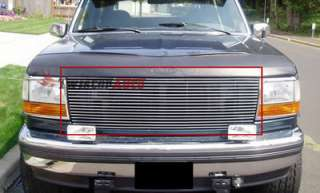 Billet Grille Insert 92   97 Ford F Series Pickup Front Grill Upper