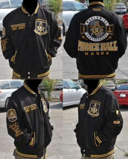 Prince Hall Mason Jacket P.H.A Black Masonic Jacket