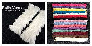 Ruffled LACE LEG WARMERS Petti Antique Style Lace 15 Colors
