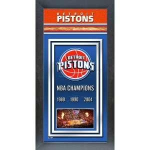 Detroit Pistons Framed Team Championship Banner Series