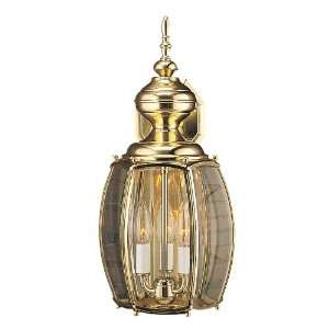 Polished Brass Finish 18 1/2 High 9 Wide Wall Lantern
