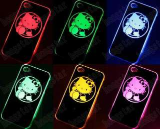 Hello Kitty Sense Flash light LED LCD Color Changing Case Cover F