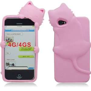 Light Pink Kitty Cat Silicone Soft Skin Gel Case Cover for