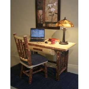 Rustic Pine Writing Desk  Home & Kitchen