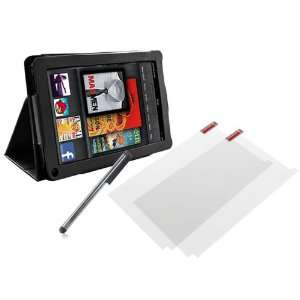 Kindle Fire 7 Leather Folio Stand Case Cover+2