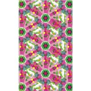 Oopsy Daisy Kaleidoscope Green Flower 20x34 Canvas Art