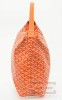 Goyard Orange Chevron Canvas Fidji Hobo Handbag