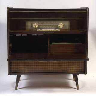 Blaupunkt Roma AM/FM/SW Tube Radio/Phonograph Stereo Console, Eames