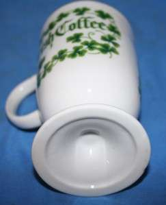 White China Footed Irish Coffee Mug Beverage Glassware