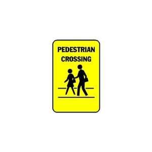 3x6 Vinyl Banner   Pedestrian Crossing Street Walkers