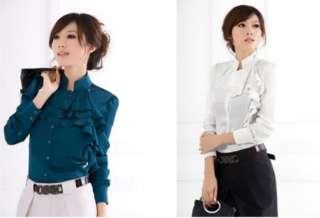 Victorian Cocktail Women long sleeve shirt flounced blouse S/M/L SH07