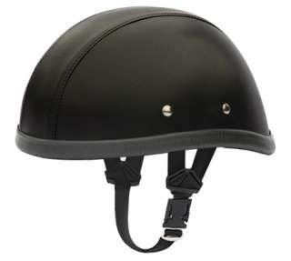 GENUINE Leather Skull Cap Novelty Motorcycle Helmet [M]