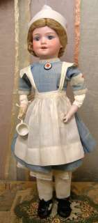 Antique ARMAND MARSEILLE BABY BETTY in ANTIQUE Nurse Costume