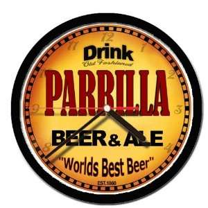 PARRILLA beer and ale cerveza wall clock: Everything Else