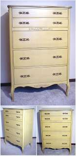 WEST MICHIGAN 7 Pc BLONDE FRENCH PROVINCIAL BEDROOM SET