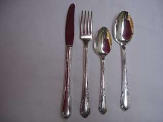 Heather Silverplate 32 piece Flatware Set 1936 Oneida Wm A Rogers