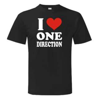 Love One Direction T Shirt X factor Harry Styles Boy Band